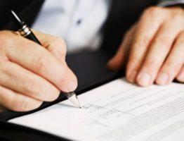 Подпись документов на открытие счета