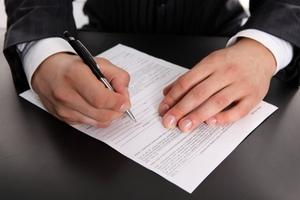 Подписание приказа руководителем