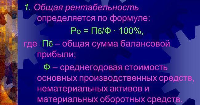 Как выглядит формула рентабельности?