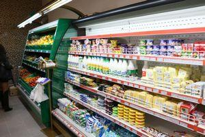 Молочный ассортимент в магазине