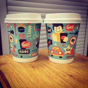 Фирменные стаканчики кофейни GO!кофе