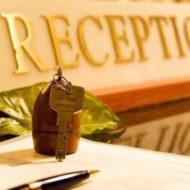 Стойка регистрации в гостинице