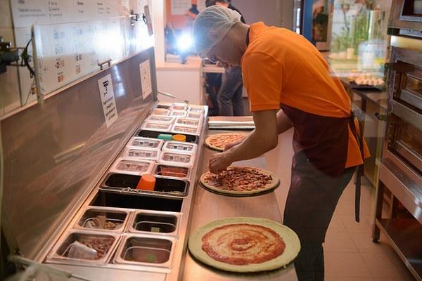 Работа в пиццерии