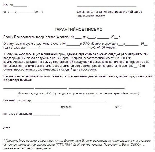 Письмо притензия о некачественной продукции