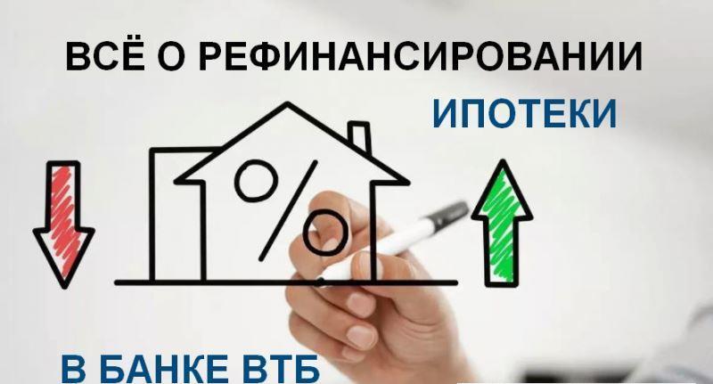 всё о рефинансировании ипотеки в банке ВТБ