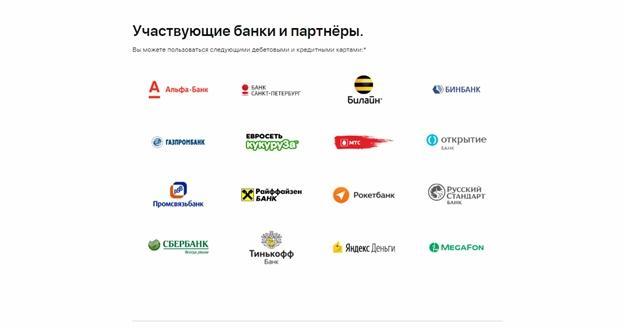 Участвующие банки и партнеры