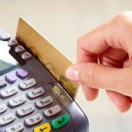 Проведение банковской карты через терминал