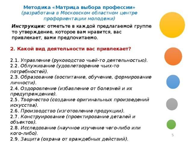 Матрица психолога Резапкиной Г. В.