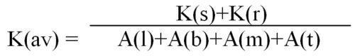 Формула рассчета
