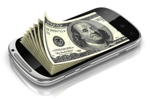 Деньги, заработанные через приложение