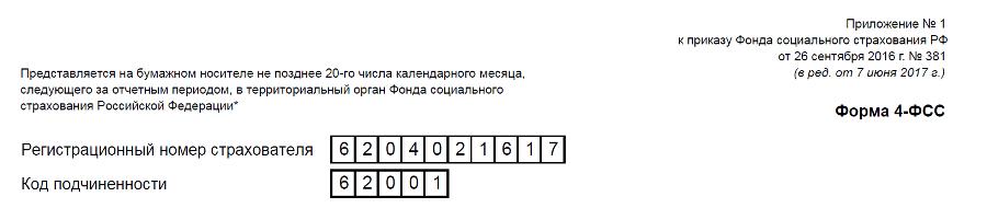 Регистрационный номер страхователя
