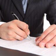 Подписание документов для открытия ООО