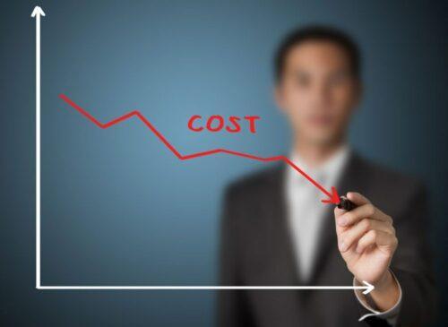 Снижение затрат. Иллюстрация
