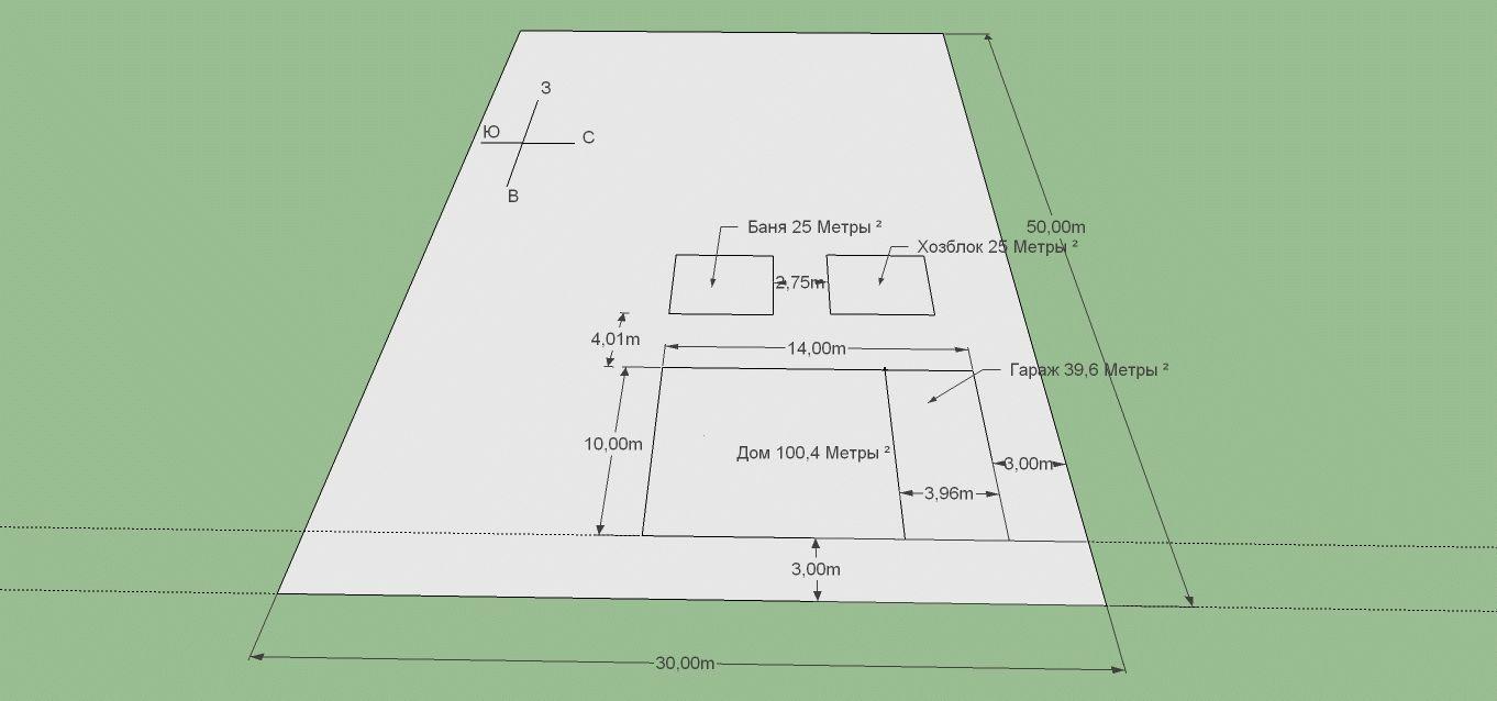 План участка и построек