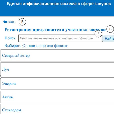 Регистрация в качестве представителя участника закупок
